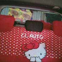 sarung jok mobil 16 in 1 AGYA AYLA HK MERAH Car set 16in1 mobil full s