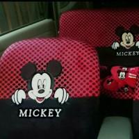sarung jok mobil 18 in 1 universal mickey mouse Car set 18in1 warna hi