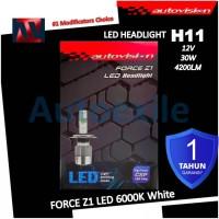 Autovision Force Z1 LED H11 12V 6000K Putih High Power CSP Lampu Mobil