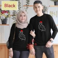 Couple sarangheo hitam baju remaja pasangan kaos couple cp per vt