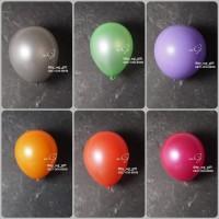 Hiasan Pesta - Balon Ulang Tahun; Warna Metalic, 1 pack; 1 pcs - Kuning