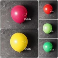 Hiasan Pesta - Balon Ulang Tahun; Warna Doff, 1 pack; 1 pcs - Putih