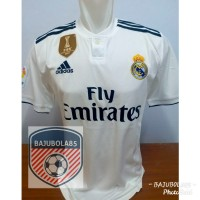 REAL MADRID HOME 2018 + PATCH FIFA LA LIGA - Putih, S