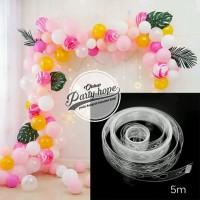 Stripe Tape Balon Dekorasi / Strip Balon Arch Garland Dekorasi balon