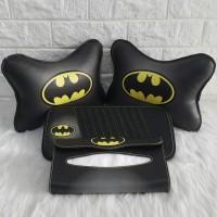 Bantal Mobil 3 in 1 Batman Kulit