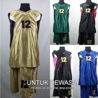 Setelan Baju/Kaos Bola Basket Team/Tim Dewasa
