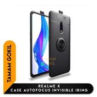 Realme X Case Autofocus Invisible Iring SoftCase - Hitam