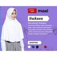 Produkbaru Kerudung Jilbab Bergo Sekolah Zoya Sukses Maxi - Putih