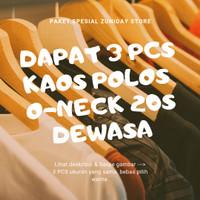 [Dapat 3 Pcs] Kaos Polos Unisex Combed 20S Dewasa Paket Bundling