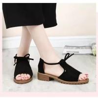 sendal sepatu tali sandal wanita shoes korea unik teplek flat