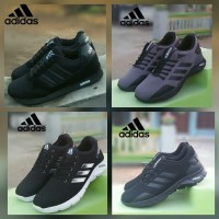 Sepatu ADIDAS V REACHER FULL BLACK /SEKOLAH CEWEK COWOK /OLAHRAGA