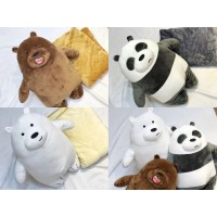 [LOGU] Balmut we bare bear, bantal selimut panda ice bear 3D