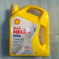 oli Shell helix HX6 10W-40 100% jamin asli kemasan 4 liter