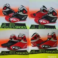 Sepatu Motor Drag-Touring Alpinestar K-Pro Merah Hitam - Hitam Merah