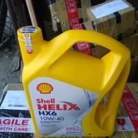 Oli Oil Shell Helix HX6 SAE 10W-40 4Liter Synthet Technology Motor Oil