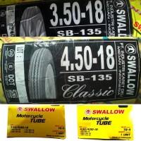 Ban Motor Swallow Paket 3.50-18 & 4.50-18 dan Ban Dalam Classic SB-135