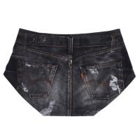 Promo Baju Sexy Celana Pendek Motif Jeans 3DPrint Ketat Tipis Impor