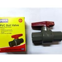 Ball Valve Pvc Plastik 1  inch HSS Stop Kran