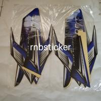 stiker stripping stripping motor yamaha RX king 2008 hitam lis biru