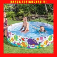 Intex Kolam Renang Anak Tanpa Pompa - Bak Mandi Bola Besar 152 x 25 cm