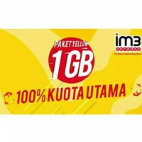 Paket Data Internet Indosat Yellow 1GB+Unlimited APP Unlimited Youtube