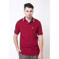 Jack Nicklaus Universal-3 Polo Shirt Pria Regular Fit Merah Burgundy