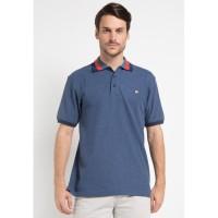 Jack Nicklaus Ohio-2 Polo Shirt Pria Regular Fit Biru Melange