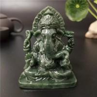 Jual Arca Patung Ganesha Duduk Bahan Jade Giok Asli India