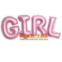 balon foil tulisan GIRL jumbo / balon letter GIRL / baby shower