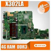 HOT! X302LA For ASUS X302LJ X302L motherboard with i3 4G RAM Integrat