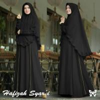 Setelan Gamis Baju Busana Wanita Muslim Hafizah Syari + Bergo HQ