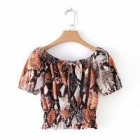 Baju Atasan Wanita Orange Skin Summer Import