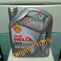 oli shell hx8 helix 5w-30 synthetic garansi uang kembali 100% original