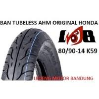 AHM 80/90-14 K59 Tubeless Ban Motor Matic Original Honda Federal