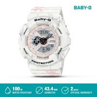 Casio Baby-G Jam Tangan Digital Analog Wanita BA-110CF-7ADR White Ori