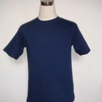 Kaos polos biru dongker ukuran XS - XXXL cotton combed