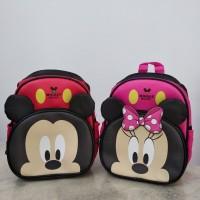 Tas ransel anak paud playgroup Mickey dan minnie mouse miki mini
