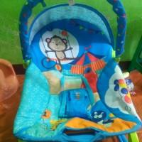 Sugar baby 10in1 ayunan monke jungle blue unisex rocking rocker chair