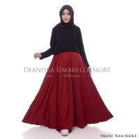Rok Panjang Muslimah Diandra Umbrella Skirt Banyak Pilihan Warna