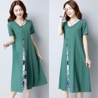 Dress Wanita Lengan Pendek Baju Tradisional China