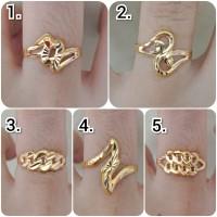 Cincin emas asli kadar 700 70% 18k 22 surabaya kerawang love hati