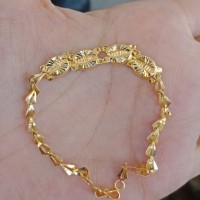 gelang rantai tangan emas asli kadar 700 70% 18k 22 model bulat 1 gram