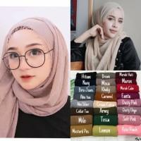 Pashmina Crinkle Shawl Crimp Cotton Hijab Pasmina Rawis Kerudung Kusut
