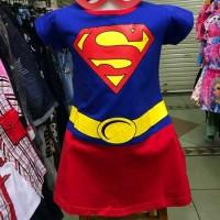 Dress Baju Karakter Kostum Supergirl Anak Perempuan Cewek Superhero