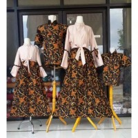 Batik Couple Baju Sarimbit Keluarga Ayah Ibu Anak Kemeja Gamis Jumbo