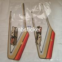 stiker stripping stripping motor yamaha RX king 1990 hitam lis merah