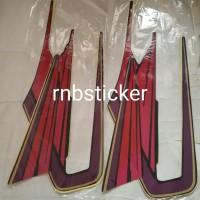 stiker stripping stripping motor yamaha RX king 1995 hitam lis ungu