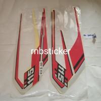 stiker stripping stripping motor yamaha RX king spesial 1988 merah