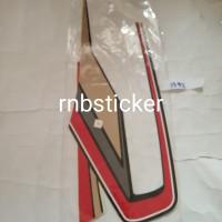 stiker stripping stripping motor yamaha RX king 1992 hitam lis merah