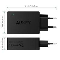Aukey Qualcom Quick Charge 3 0 Tech 3-Port Usb - Hitam Grosir/Eceran